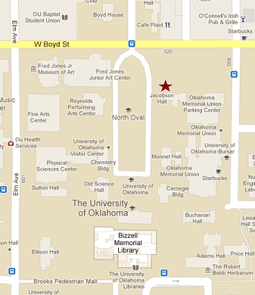 OU Faculty Senate Contact Us - Map ou us